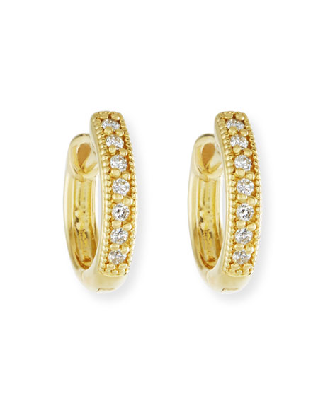 Jude Frances Small 18K Gold Hoop Earrings with