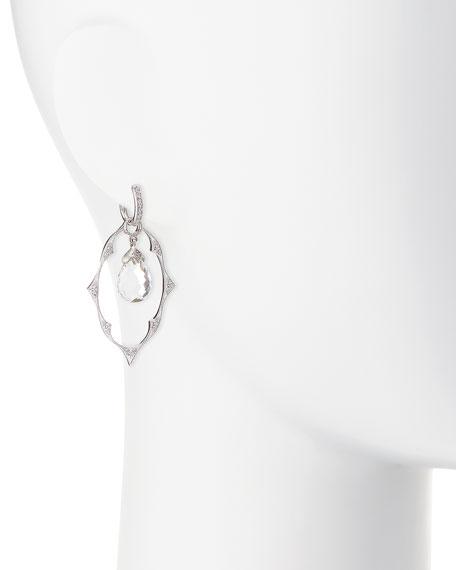 White Gold Moroccan Earring Charm Frames