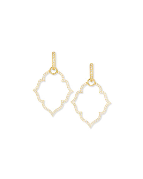 Yellow Gold Michelle Flower Earring Charm Frames