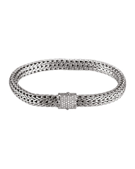John Hardy Small Chain Bracelet with Diamond Pave