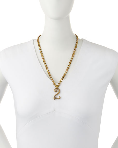 Plaza Number Necklace