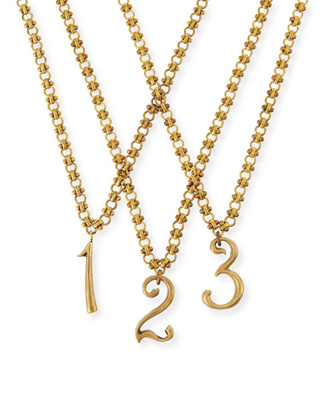 Lulu Frost Plaza Number Necklace