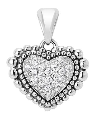 Caviaar Beaded Diamond Heart Pendant