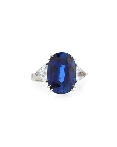 Image 1 of 3: Fantasia by DeSerio Oval Cubic Zirconia Ring, 10 TCW