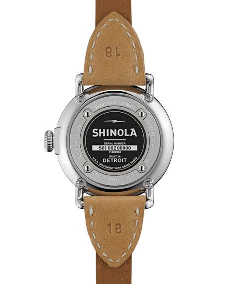 Runwell Leather Triple-Wrap Watch, 36mm