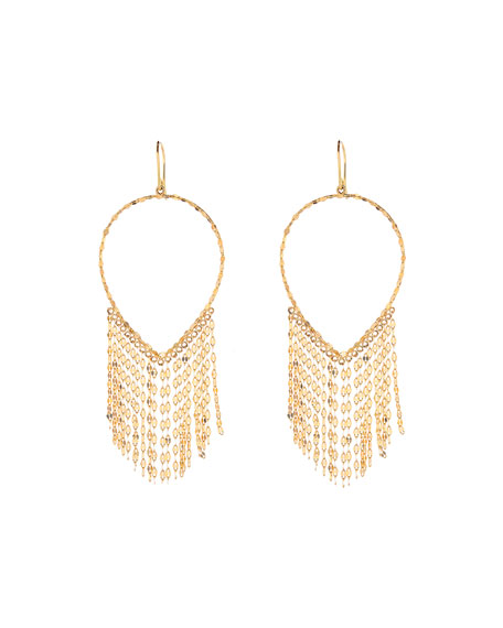Lana 14k Oval Fringe Earrings