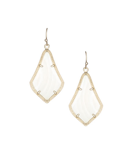 Alex Pearlescent Earrings, White