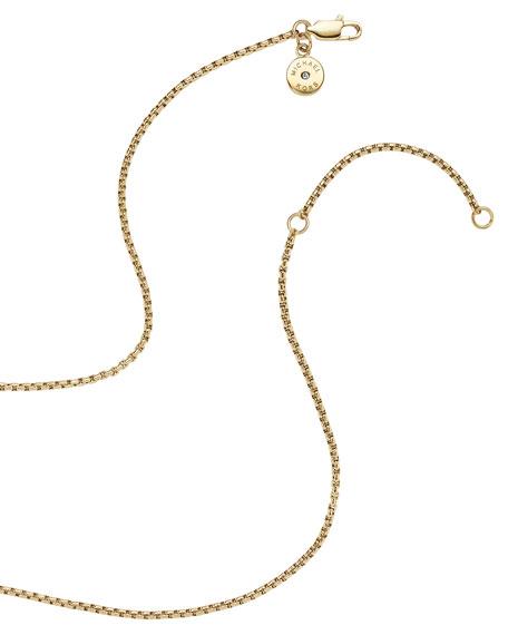 MK Logo Heart Pendant Necklace