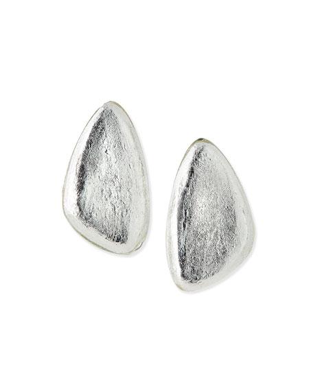 Viktoria Hayman Freeform Silver Foil Earrings