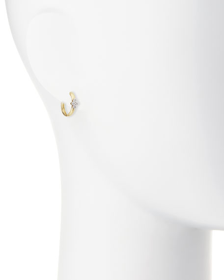 Provence Small Diamond Hoop Earrings