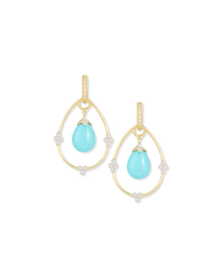 Jude Frances Yellow Gold Provence Pear Earring Charm Frames