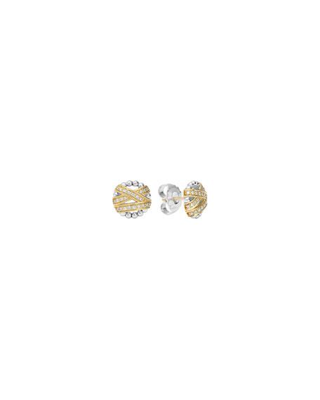 Embrace Round Diamond Stud Earrings