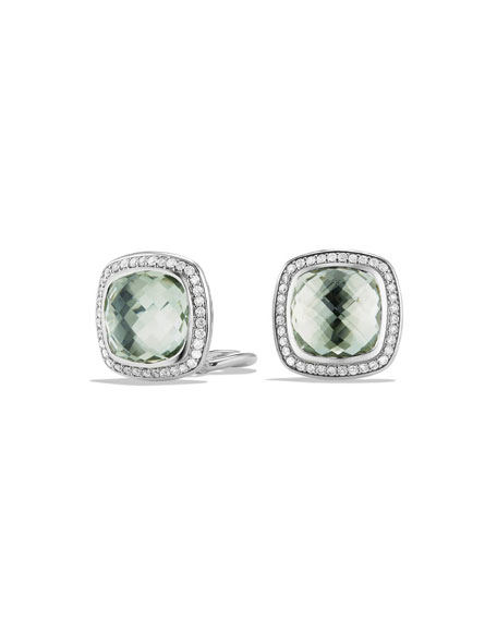 David Yurman 11mm Albion Prasiolite Stud Earrings with