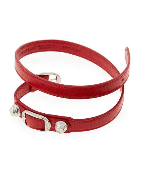 Giant 12 Leather Wrap Bracelet