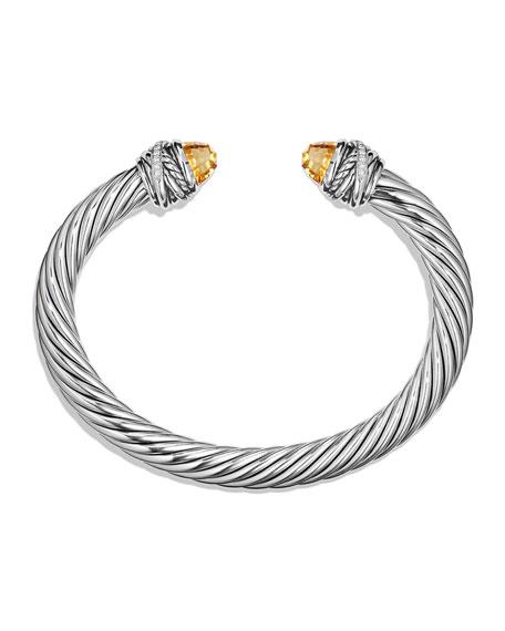 7mm Diamond Crossover Bracelet