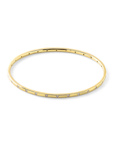 18K Gold Senso™ Thin 28-Stone Bangle with Diamonds (.68ctw)