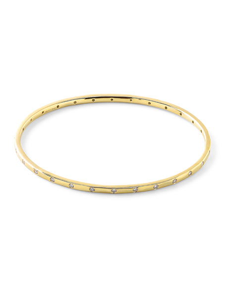 Ippolita 18K Gold Senso?? Thin 28-Stone Bangle with