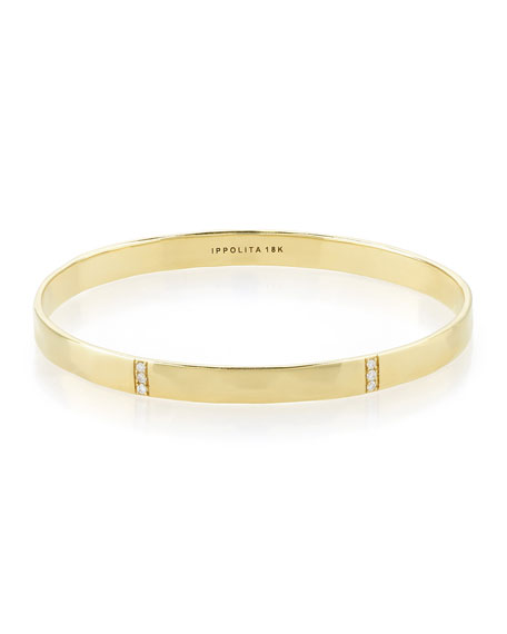 Ippolita 18k Gold Glamazon 3-Section Diamond Bangle