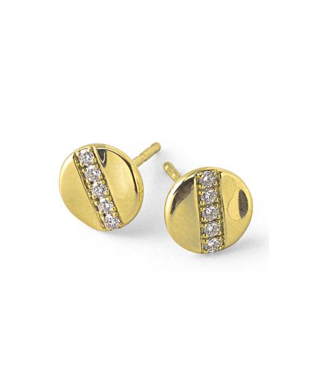 Ippolita 18K Gold Senso™ Stud Earrings with Diamonds