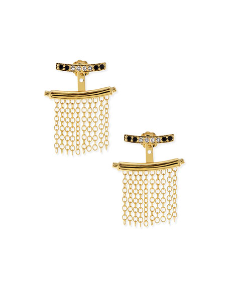 Elizabeth and James Vago Fringe Jacket Earrings