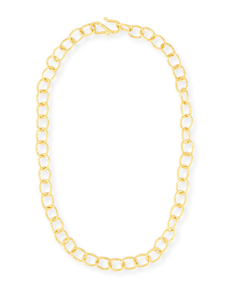 """Hammered Oval-Link Chain Necklace, 18""""L"""
