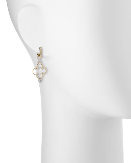 Image 2 of 3: Jude Frances 18K Clover Diamond Earring Charms