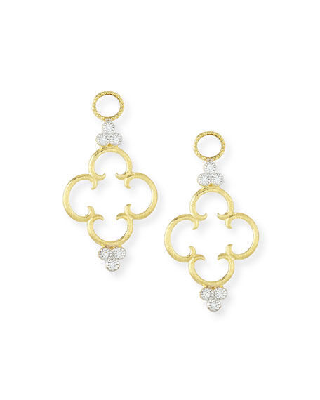 Image 3 of 3: Jude Frances 18K Clover Diamond Earring Charms