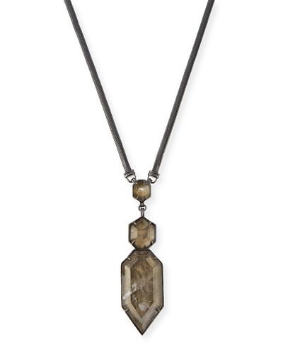 Wyatt Mirror Rock Pendant Necklace