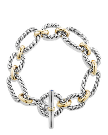 12.5mm Cushion Link Toggle Bracelet