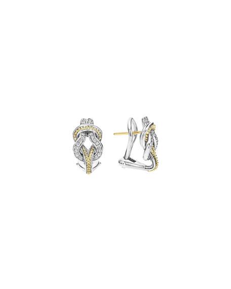 LAGOS Newport 18K Gold Diamond Knot Earrings