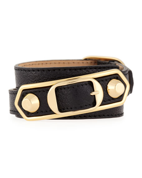 Balenciaga Metallic Edge Wrap Bracelet