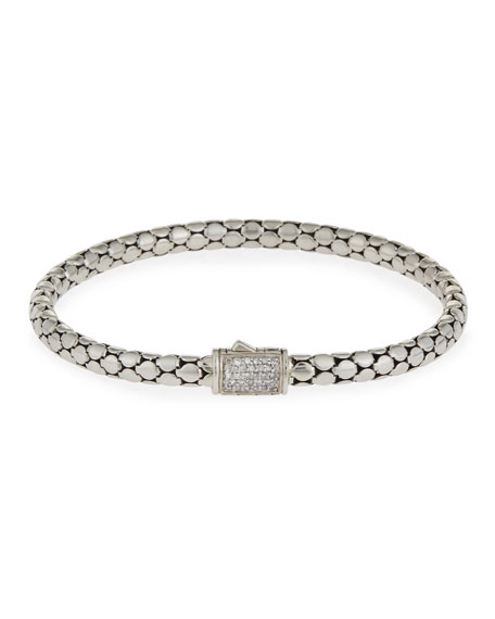 John Hardy Dot Medium Pavé Diamond Chain Bracelet,