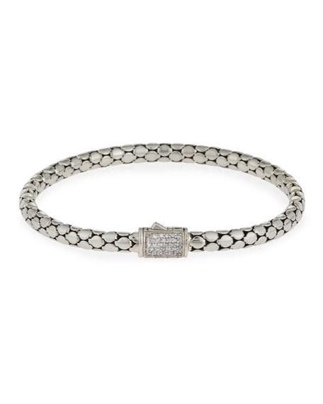 John Hardy Dot Medium Pav?? Diamond Chain Bracelet,