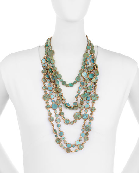 Turquoise Multi-Strand Necklace