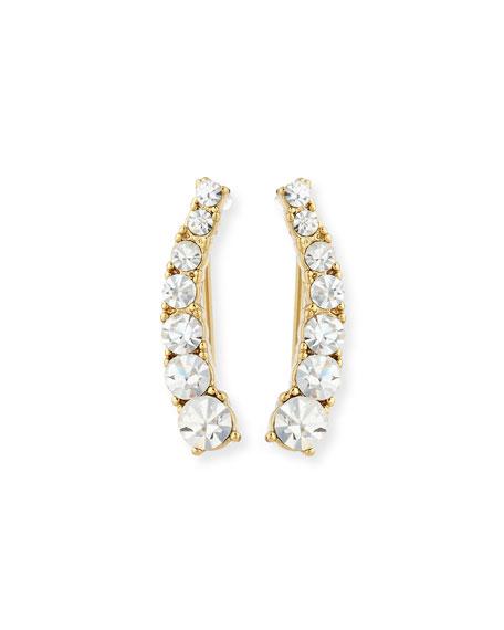 sparklers crystal crawler earrings