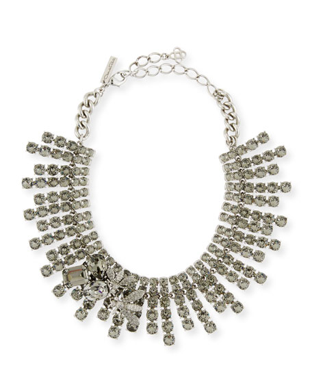 Oscar de la Renta Crystal-Row Statement Necklace