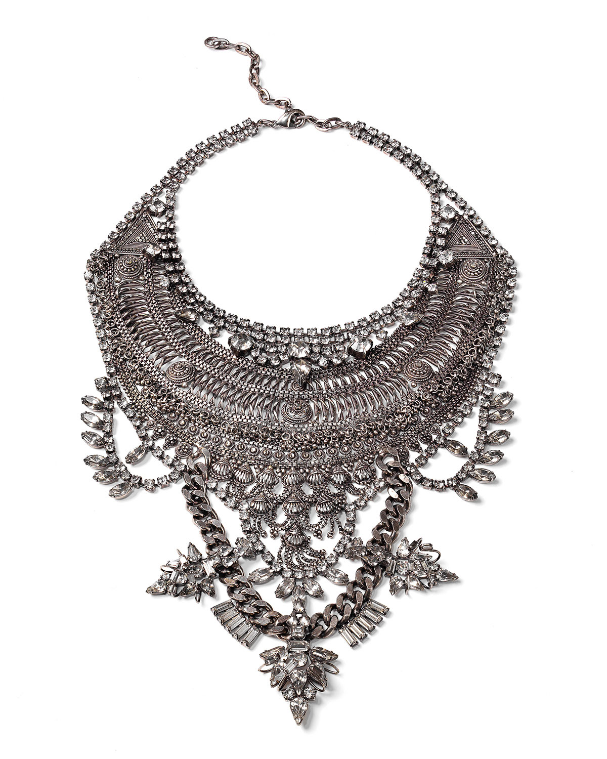 Dylanlex Gambino Crystal Statement Necklace yOi3gQsy