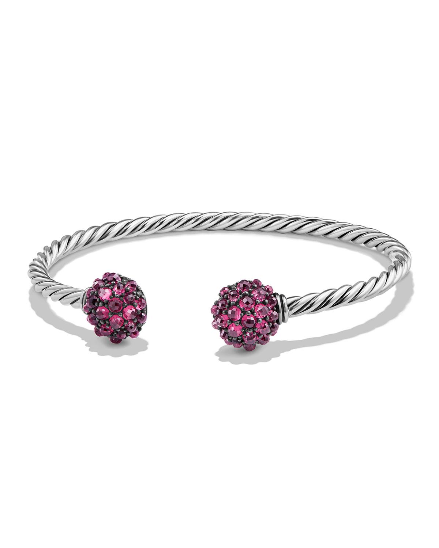 Cable Berries Faceted Garnet Bracelet