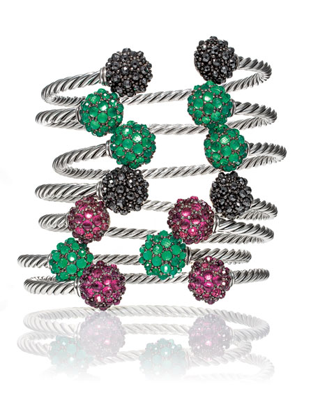 David Yurman Osetra Faceted Green Onyx Bracelet