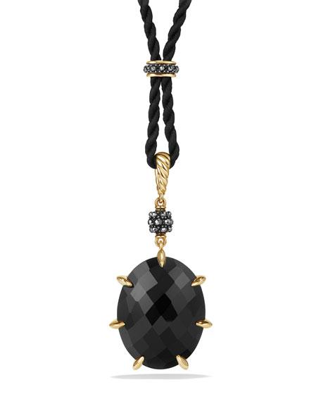 David Yurman Osetra Black Onyx & Hematine Pendant