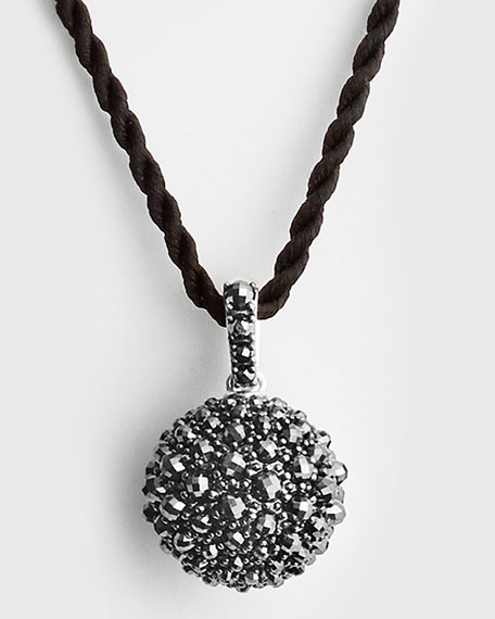 20mm Cable Berries Faceted Hematine Pendant Necklace, 42""