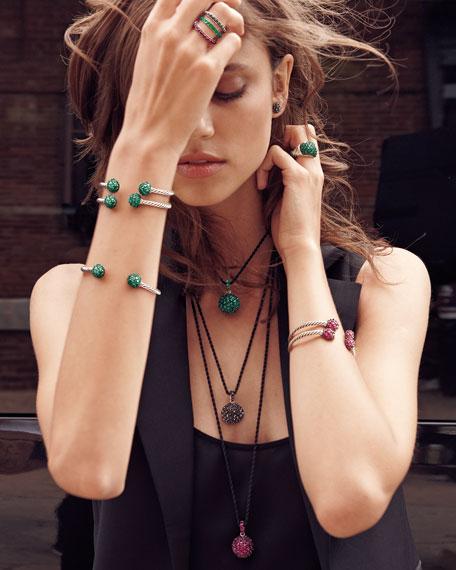 Osetra Hematine Stud Earrings