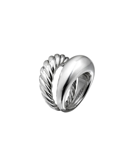 David Yurman Wide Pure Form Two-Row Stacking Ring