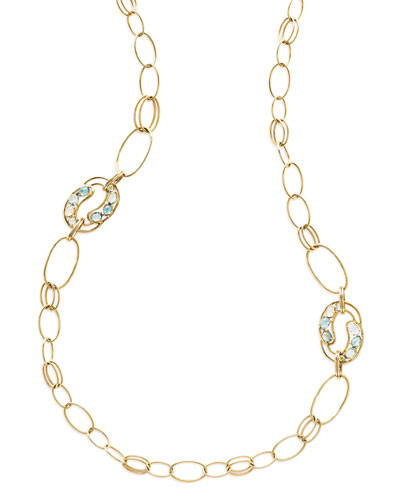 18K Rock Candy Cluster Link Necklace in Midnight Rain
