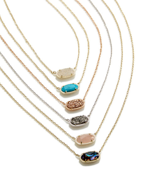 Elisa Druzy Necklace, Platinum-Tone