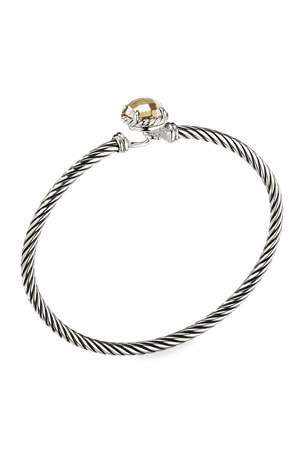 David Yurman Chatelaine Bracelet with Gold Dome