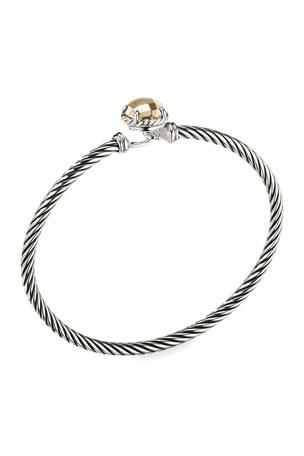 David Yurman Chatelaine Bracelet with Gold Dome