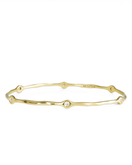 Six-Diamond Squiggle Bangle