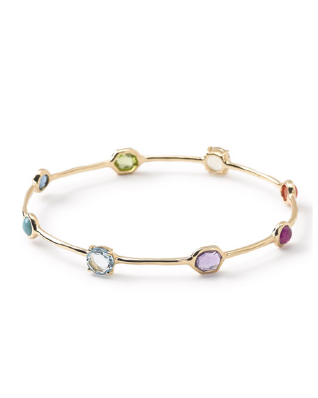 Ippolita 18K Rock Candy 8-Stone Bangle in Summer Rainbow 7E1wn