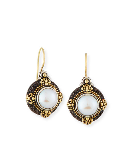 Konstantino Pearly Round Drop Earrings